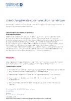 Un(e) chargé(e) de communication numérique